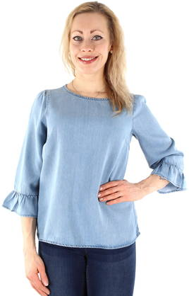 Vero Moda shirt Lissy 3/4 sleeve m.blue - Shirts and blouses - 120850 - 1