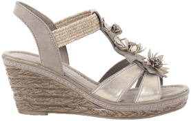 Marco Tozzi Wedges 28302-28 taupe - Sandals - 118470 - 1