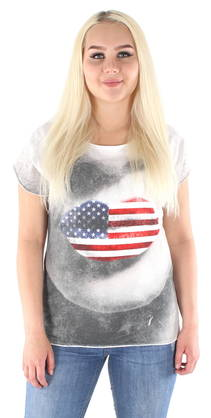 Only T-Shirt Jonna Lips - T-Shirts - 119090 - 1