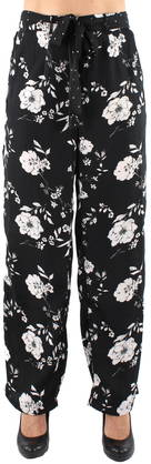 Vero Moda Pants Daniella, Black/Flower - Trousers - 121440 - 1
