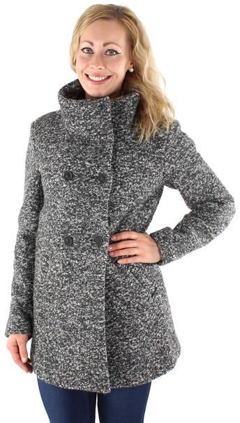 Only płaszcz damski onlally Sophia wool Coat CC otw, kolor: szary (Light Grey Melange) Amazon