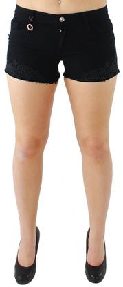 Only Shorts Carrie dnm lace black - Shorts and Capri pants - 116051 - 1