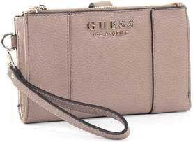 Guess Wallet Heidi double zip taupe - Wallets - 122691 - 1