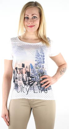 Only T-shirt Rhina white/city - T-Shirts - 118271 - 1