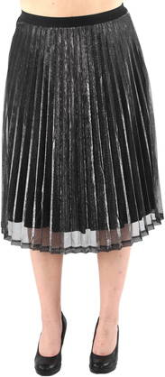 Vila Skirt Damia,Black & Silver - Skirts - 119731 - 1