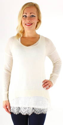 Guess Sweater W63R0DZ0ZF0 off-white - Knitwear - 117352 - 1