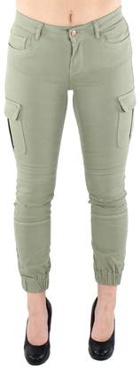 Only Pants Missouri ankle cargo, Green - Trousers - 122892 - 1
