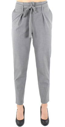 Only Pants Nicole paperbag, Gray - Trousers - 122732 - 1
