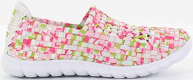 Migant Braided Sneakers A923-94, Pink/Multi - Sneakers - 121162 - 1