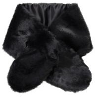 Pieces Fur Collar Dawn Fake, Black - Scarves - 117263 - 1