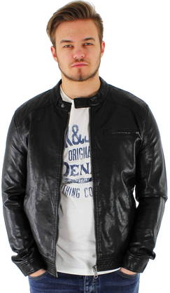 Only&Sons Faux Leather Jacket Carsten black - Jackets - 113363 - 1