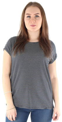 Vero Moda T-shirt Ava stripe, Dark Blue/White - T-Shirts - 122843 - 1