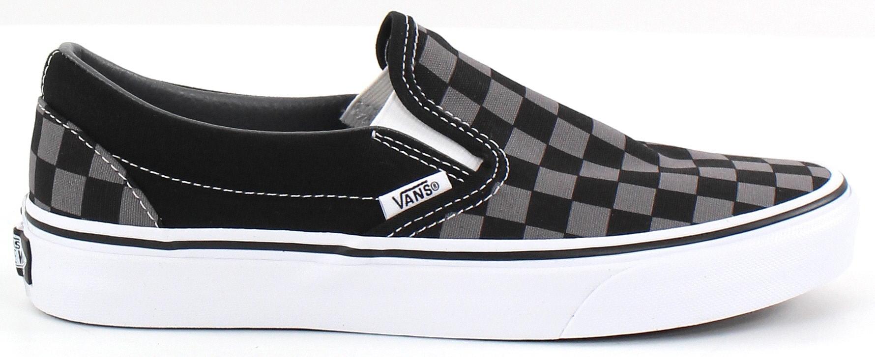 Vans slip on | Black slip on shoes, Vans slip on black
