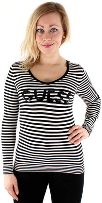Guess Sweater Tullia black/white - Knitwear - 118044 - 1