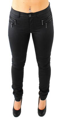 Only Leggings New Olivia coated black - Trousers - 114694 - 1