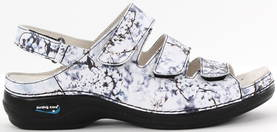 Nursing Care Machine washable sandals WG18F13 grey flower - Work shoes - 118904 - 1
