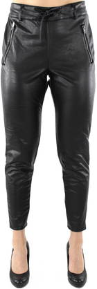 Only Trousers Poptrash PU Zip, Black - Trousers - 119874 - 1