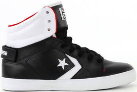 Converse Sneakers  All Star 12 leather mid black/white - Sneakers - 112005 - 1