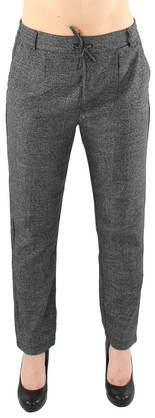 Only Trousers Poptrash WVN Check, Black - Trousers - 119415 - 1
