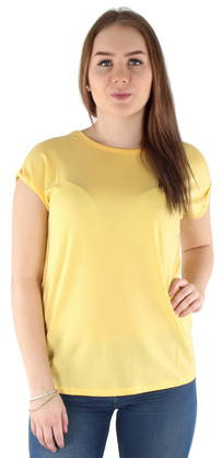 Vero Moda T-shirt Ava plain, Yellow - T-Shirts - 122845 - 1