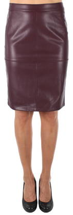 Vila Skirt Pen, Wine Red - Skirts - 121565 - 1