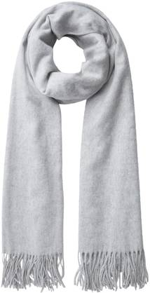 Pieces Scarf Jira, Light Gray - Scarves - 121876 - 1