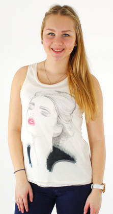 Only Top Sketch pink lips - Tank tops - 114206 - 1