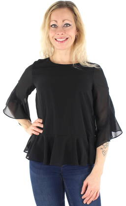 Vero Moda Shirt Alva Minni 3/4 Peplum - Long sleeved shirts - 122446 - 1