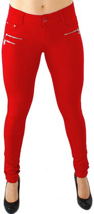 Drome Zipper pants really red - Trousers - 115747 - 1
