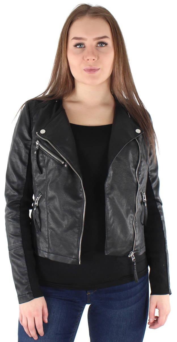 cd2c7dfc Vero Moda Jacket Ria short PU, Black - Leather jackets - 122778 - 1