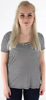 Jdy T-shirt Spirit stripe v-neck - T-Shirts - 118218 - 1