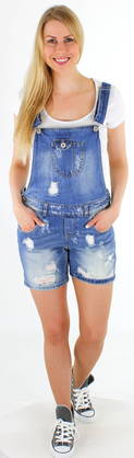 Only Denim overall shorts Kim Witty overall - Shorts and Capri pants - 112138 - 1