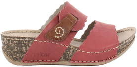 Rieker Mules 69282-33, Red - Mules and clogs - 120368 - 1