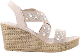 Marco Tozzi Wedge Sandals 28345-20 taupe - Sandals - 120819 - 1