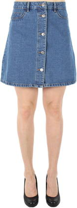 Noisy May Skirt Sunny short skater, Blue - Skirts - 121129 - 1